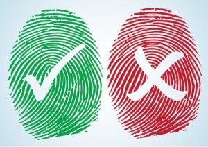 correct vs incorrect fingerprints