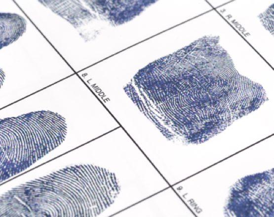 fingerprints on card thumbprint scan